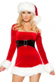 2PC Mrs Santa Claus Dress Costume