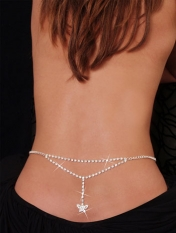 Sexy Butterfly Rhinestone Belly Chain and Lower Back