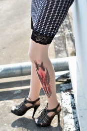 Excalibur Inspired Tattoo Stockings