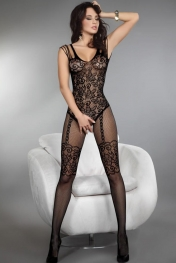 Much-loved Floral Motif Mesh Body Stockings