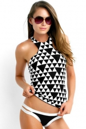 Costa Maya High Neck 2pcs Rashguard Swimsuit