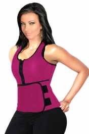 Rosy Latex Corset with Adjustable Shaper Trainer Belt