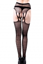 Black Diamond Net Multi Weave Pantyhose