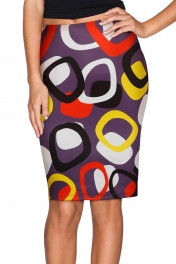 Separate Circles Midi Pencil Skirt